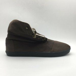 Toms Mens Boots Brown Lace Up Cap Toe Size 13 New